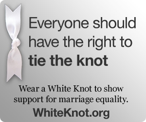 white knot for marriage equality